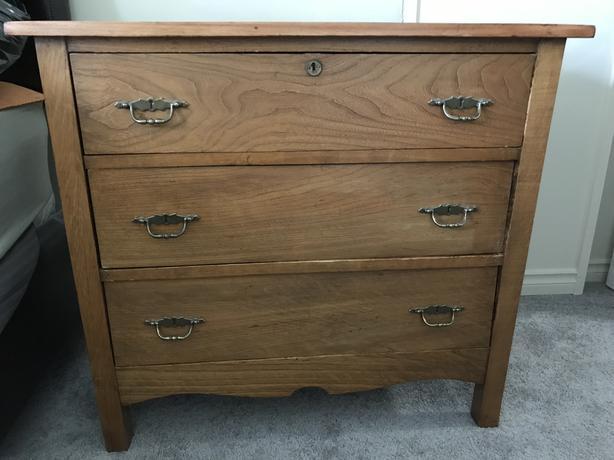 Solid Ash Wood Dresser
