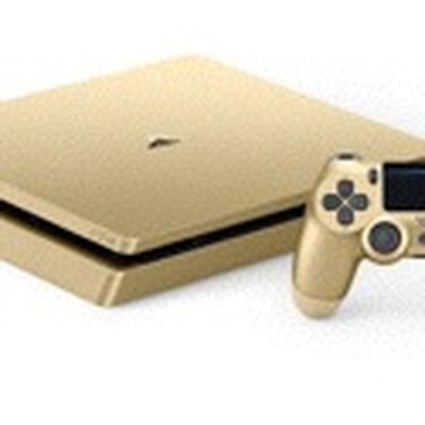 Ps4 slim gold;PlayStation console