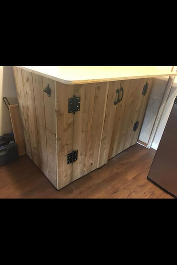 cedar kitchen island storage bar table