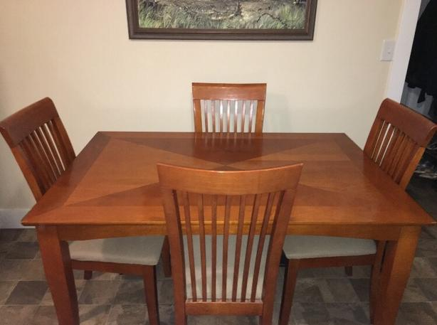 Mission Style Wood Dining Set