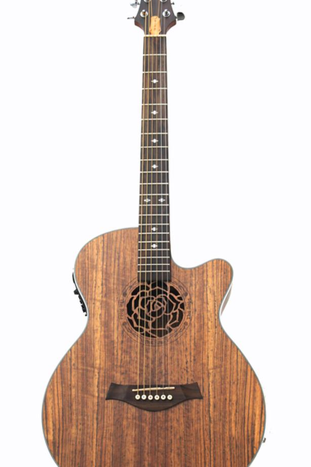 Acoustic Electric Guitar the Rose 40 inch Brand New iMG845EQ