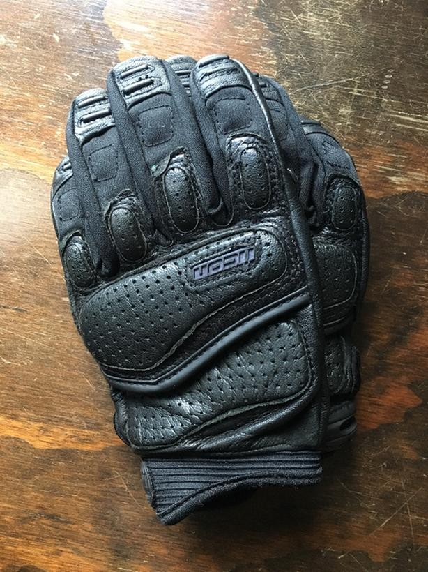 Icon Leather Riding Gloves (Mens M/L)