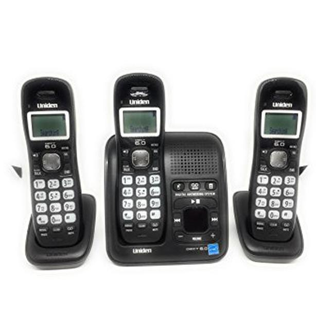 3 wireless speaker phone set answering machine plus two satelites can deliver