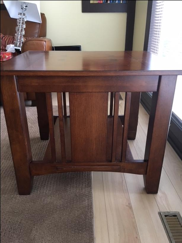 2 Solid Wood Handcrafted Coffee / End Tables