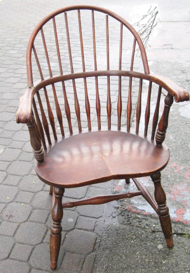 Antique original Windsor chair with great patina a conversation piece