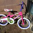 #I-13414 Girls Pink & White Bicycle