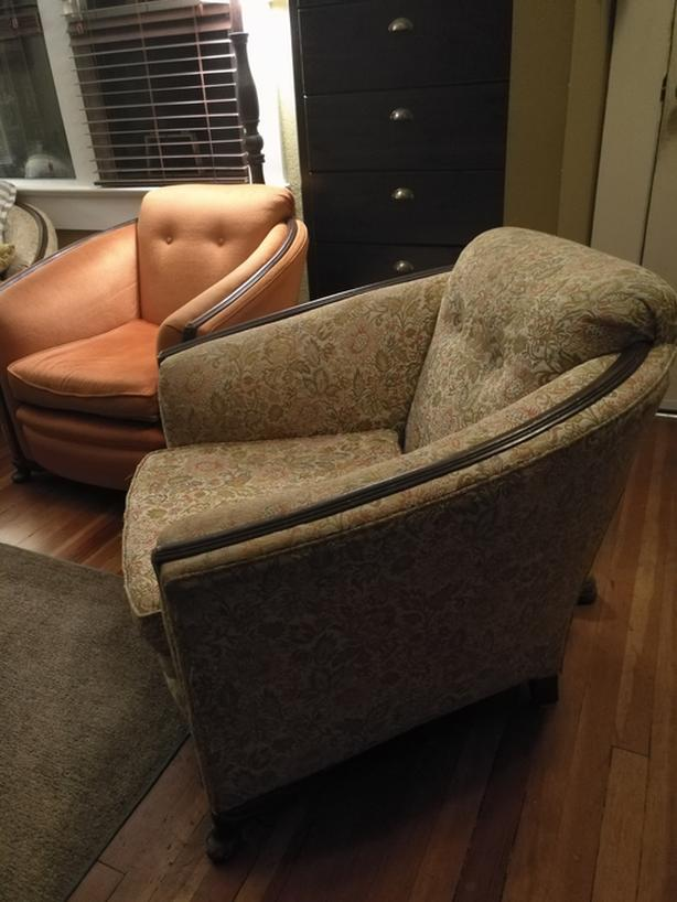 Vintage Sofa and 2 Armchairs