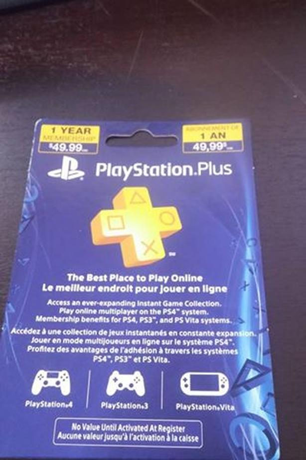 Playstation Plus 1-year cards