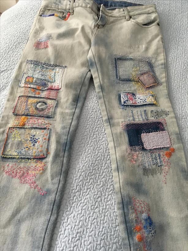 Wearable art- BOHO designer jeans