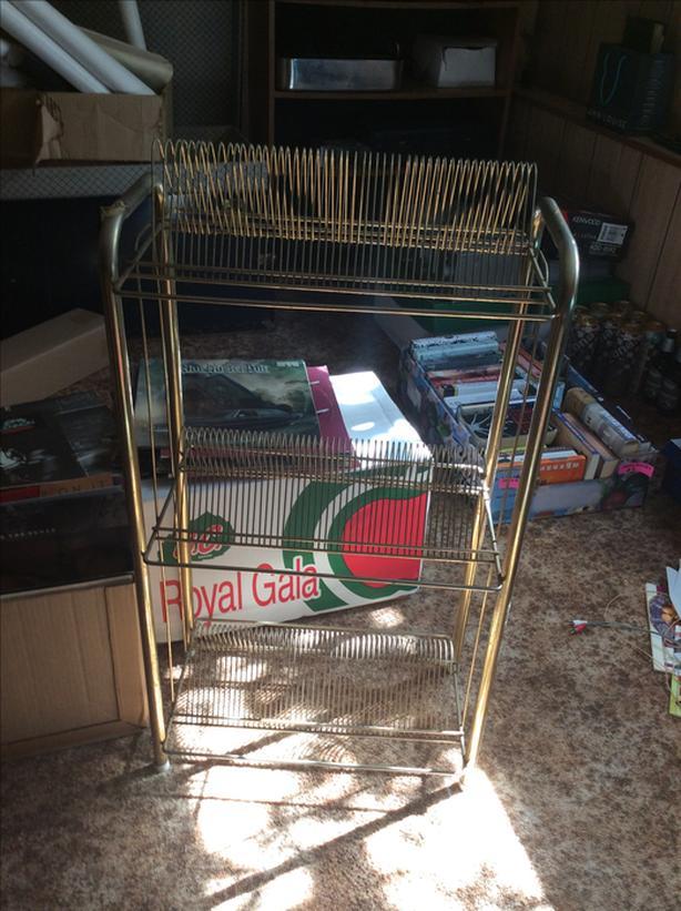 Retro record rack