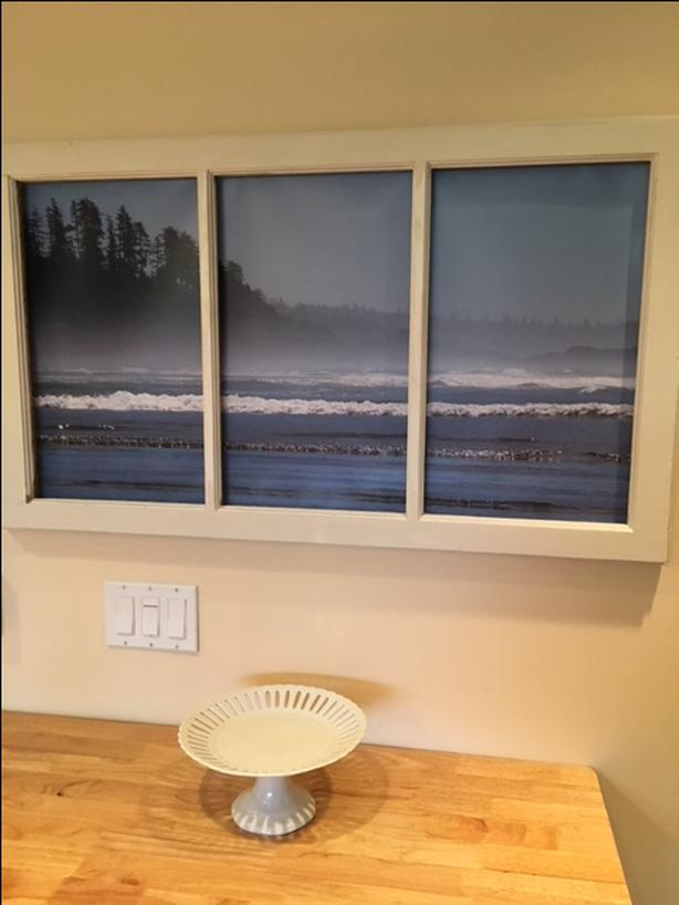 Framed Photograph of Cox Bay Tofino
