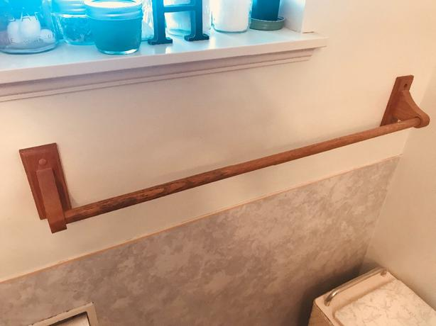 FREE: wooden towel bars