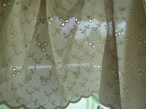 Valence Curtains Eyelet Lace Fabric Saanich Victoria