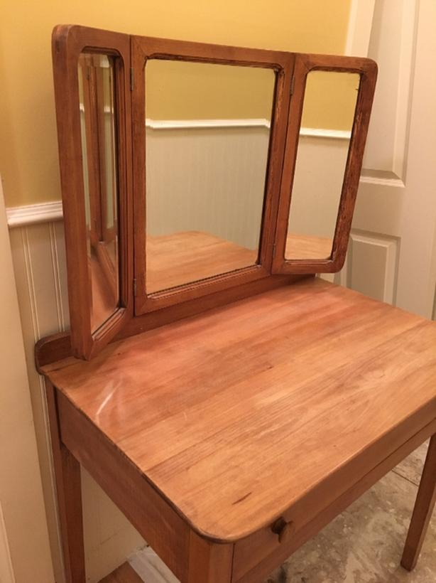 Old Mirrored Desk