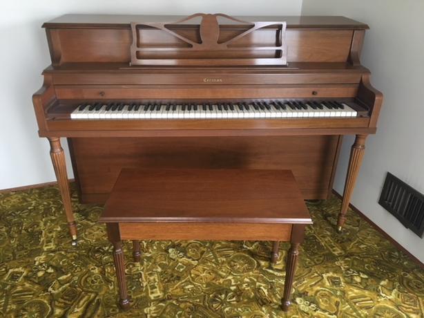 Cecilian Upright piano & Bench