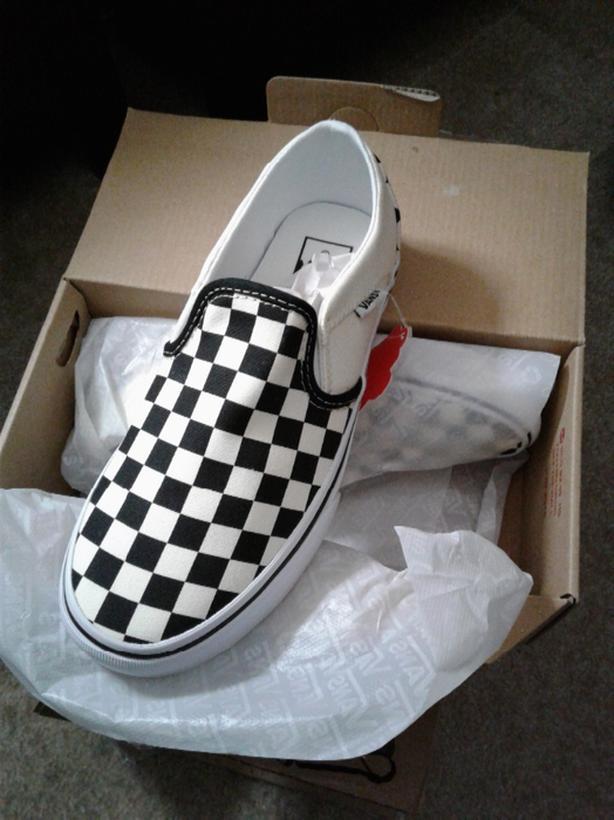 a34b43c42c Vans Checkered Slip-ons. Brand new in box ...