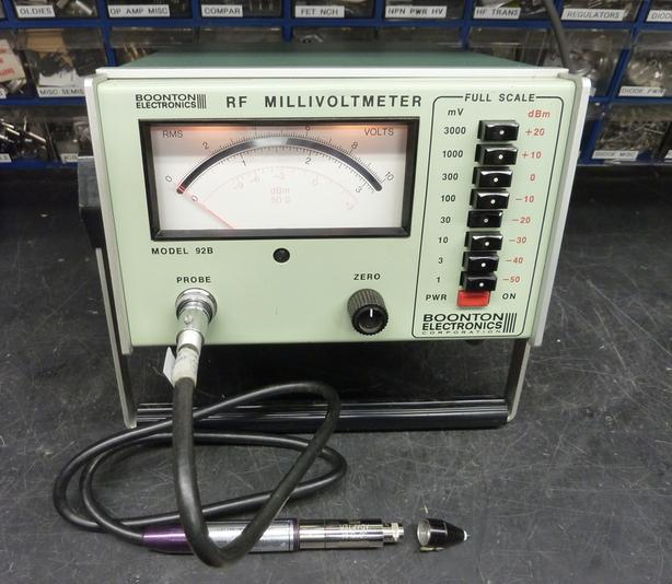 rf millivoltmeter boonton 92b with probe adapter and service op rh usedvictoria com