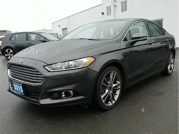 2015 Ford Fusion Titanium Ecoboost AWD! Leather! NAV! Island CAR!