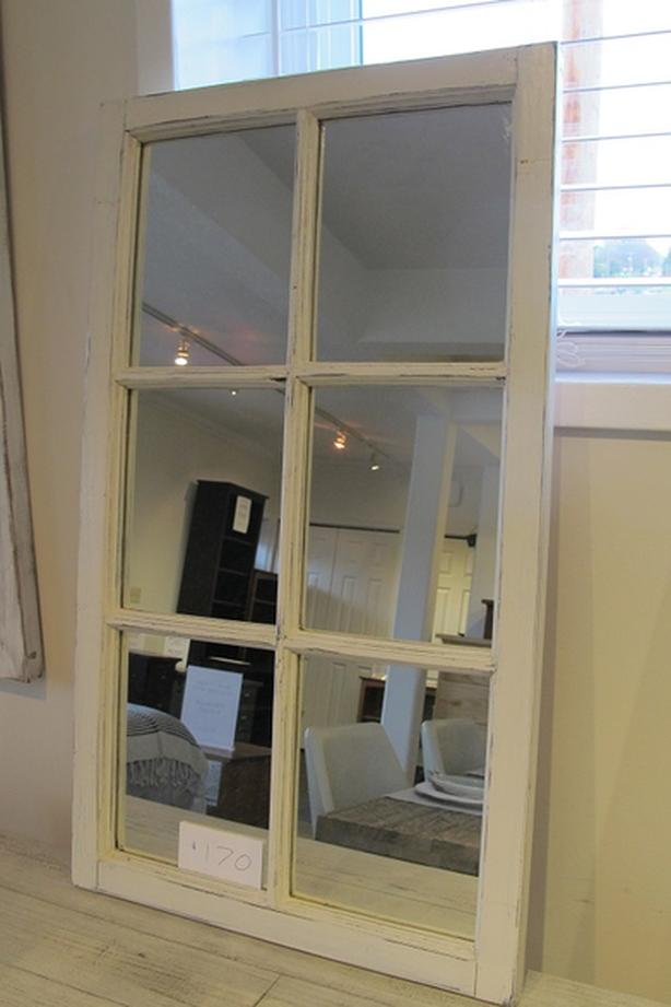 Mirrored upcycled wood window frames