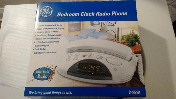 GE Bedroom Clock Radio Phone