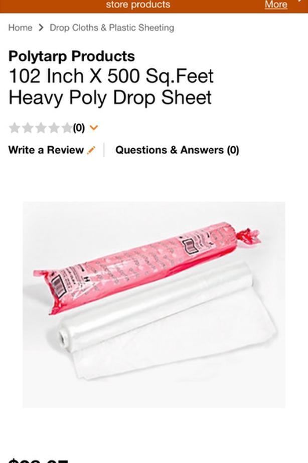 heavy polytarp drop sheet