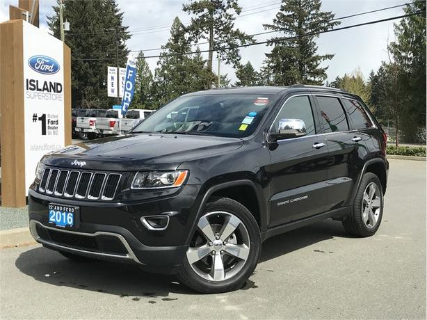 2016 Jeep Grand Cherokee Limited, Leather, Backup Camera, Moonroof