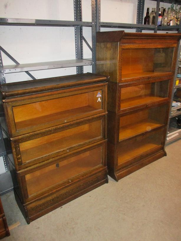 EARLY 1900STACKING OAK BOOKCASES FROM ESTATE