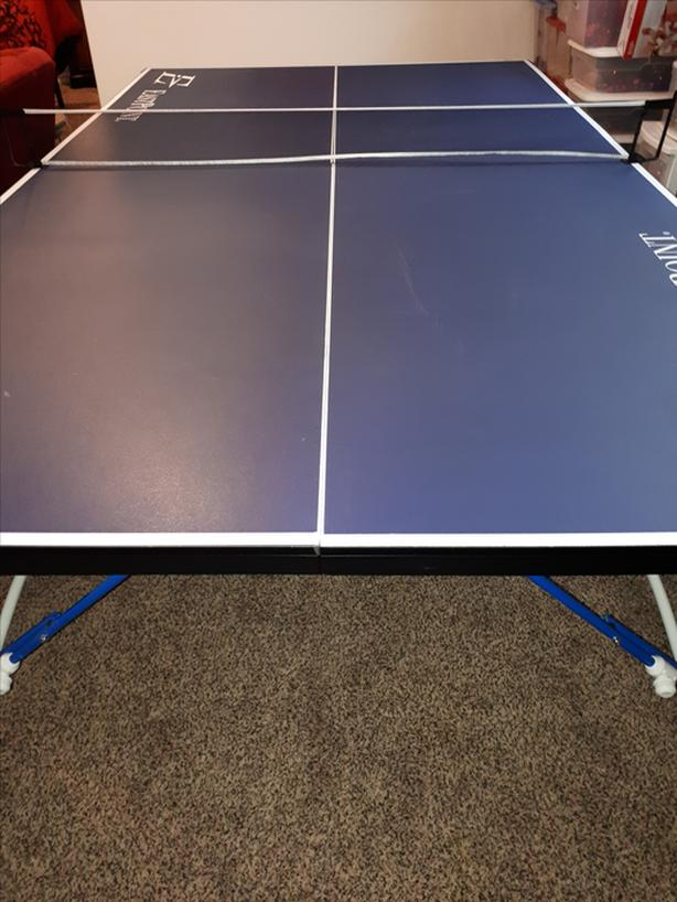 Ping Pong Table. Great Shape. Hardly Been Used. Made By Eastpoint. Regulation  Size. It Is 9ft By 5ft And 291/2 Inches High. It Comes With 2 Paddles And 2  ...