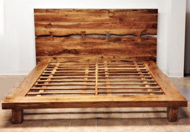 Designer Queen Bed Frame - Solid Exotic Rose Wood - Brand New