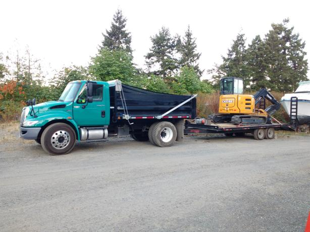 Excavator and Dump Truck Available Duncan, Cowichan