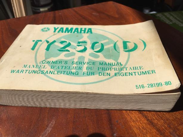 Yamaha TY250 (D) Manual