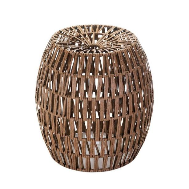 Woven Wicker Faux Rattan Stool End Table Plant Stand Brand New