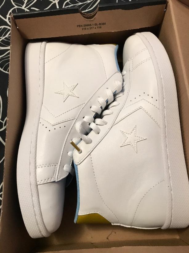 4edacdbe91bb converse pro leather mid white bright size 10 mens Victoria City ...
