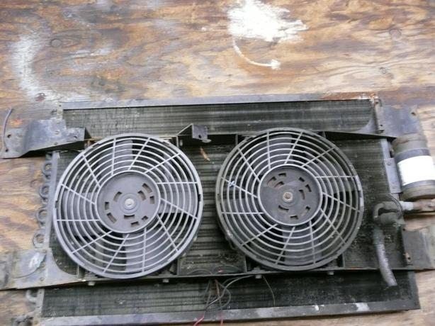 AC condensor and 12v fans