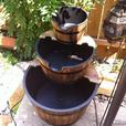 Country-Style 3-Tier Apple Barrel Bucket Electric Water Fountain Brand New