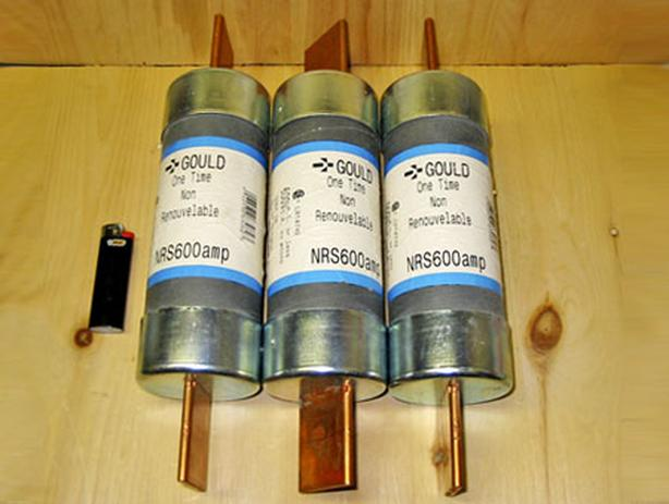 GOULD 600 Amp, 600 Vac Blade Fuses (Gould NRS 600) ~ New!