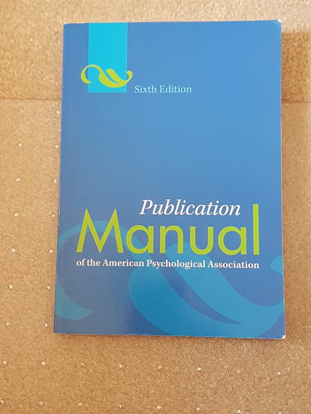 apa manual 6th edition 33 39 at u of r excellent condition