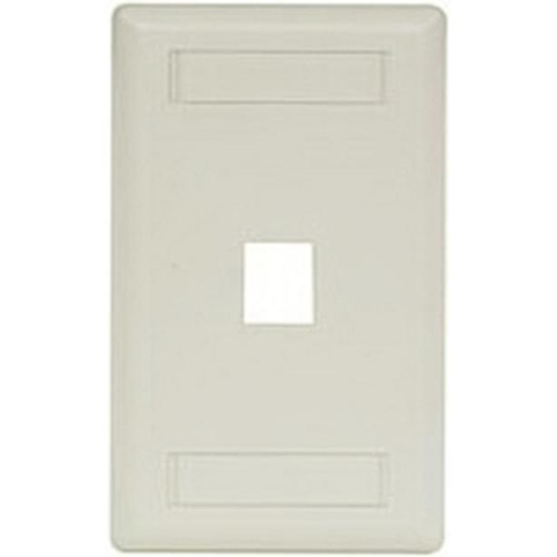 HUBBELL 1 Gang 1 Port Wall Plate - Office White (IFP11OW)