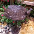 Small Cast Iron Birdbath Yard Patio Deck Ornament Sculpted Flower Basin 2 Lot