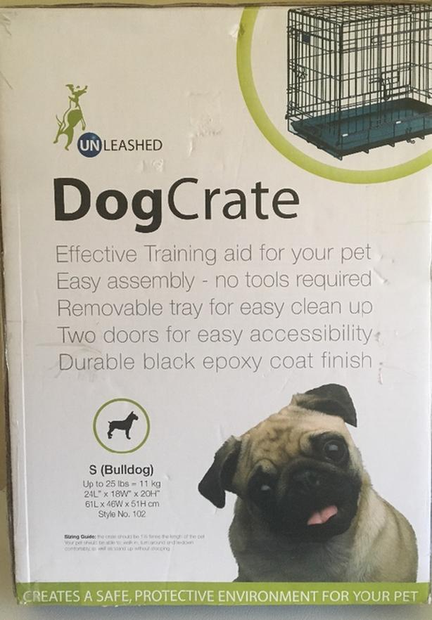 "Unleashed Brand 2 Door Wire Frame Dog Crate 24"" Long Saanich ..."