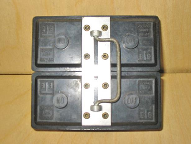 TAYLOR ELECTRIC 'Type NHP' 60 Amp, 2 Pole, 240 Vac Fuse Holder ~ Very Rare!