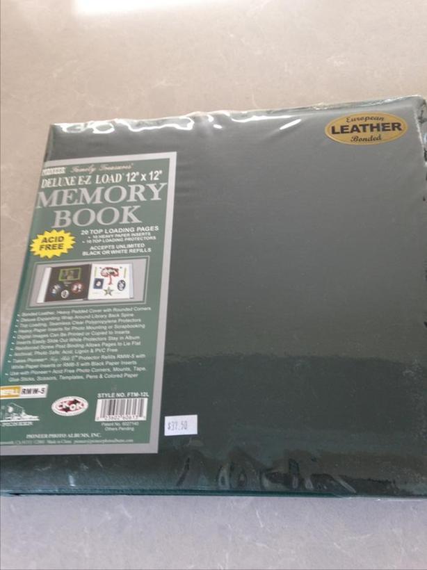 Large leather scrapbook album, new