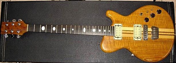 MICHAEL KINAL Electric Guitar 1981 Oak & Teak