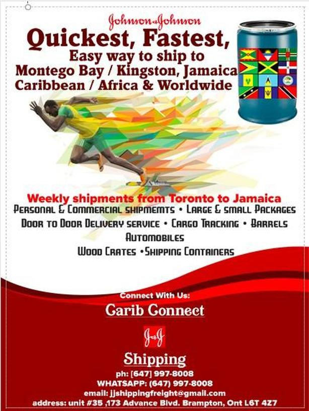 $55.00....AND UP Barrel Shipping to Jamaica & the Caribbean [647 997-8008]