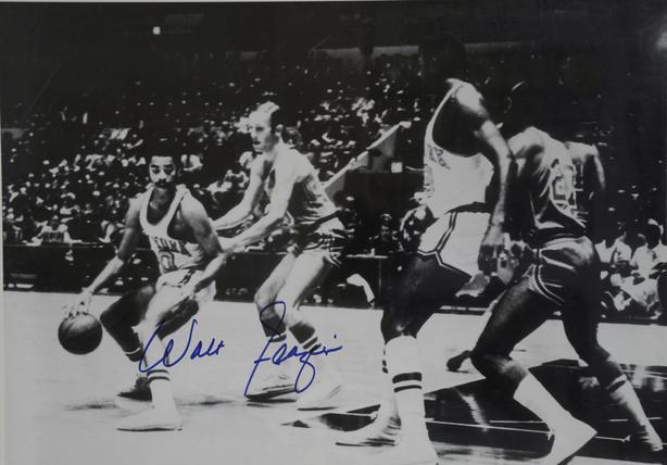 Walt Frazier Autographed 16 x20,  RARE Piece.
