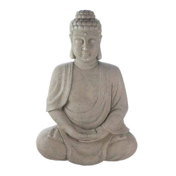 "Large Faux Stone Buddha Statue Hanging Wall Plaque 27"" Tall Brand New"