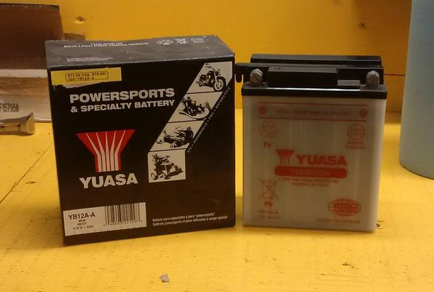 CLEARANCE - Yuasa YB12A-A Motorcycle Battery