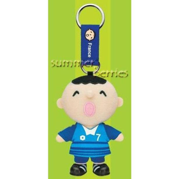 Sanrio minna no tabo 2010 World Cup Plush Key Chain - #7 France