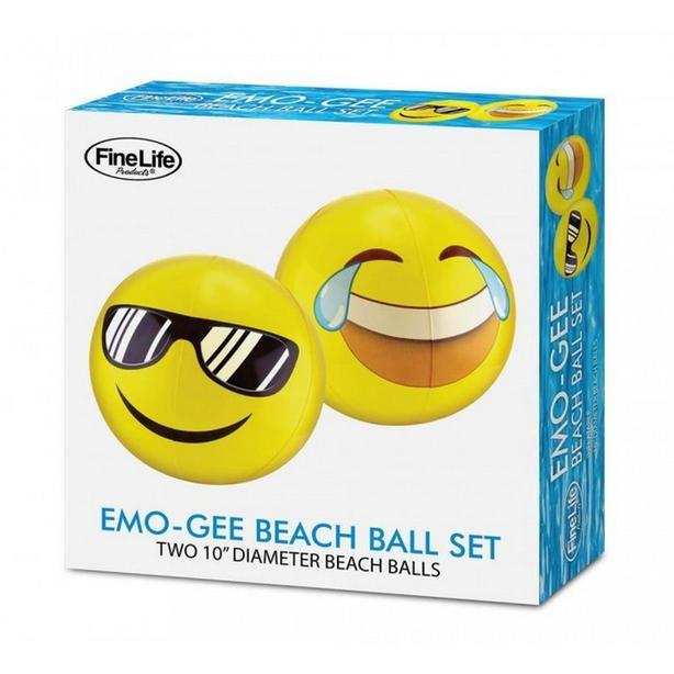 Emoji Emo-Gee Inflatable Beach Ball Set Bulk Buy 6 Sets Gifts Resale