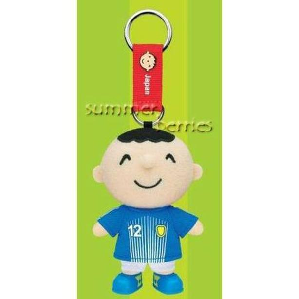 Sanrio minna no tabo 2010 World Cup Plush Key Chain - #12 Japan